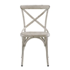 Bendigo Distressed Antique Metal Dining Chair by Gracie Oaks