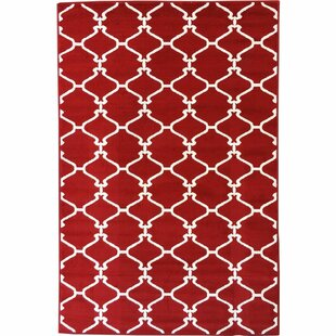 Savarese Trellis Red Area Rug