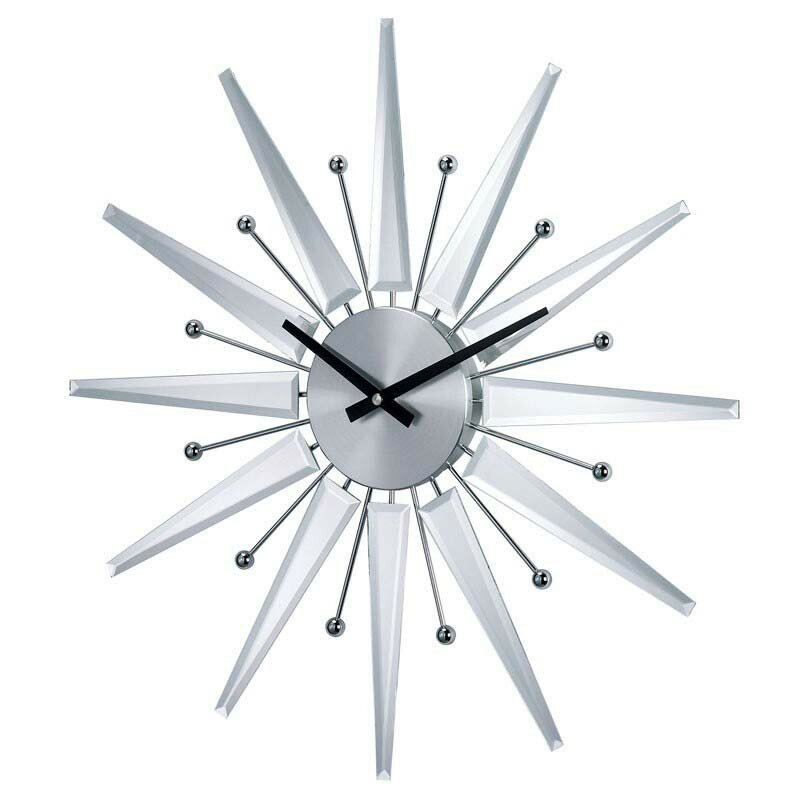 Orren Ellis Demarco 1938 Mirrored Starburst Wall Clock Reviews