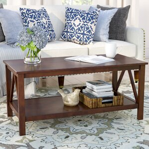 Brassiewood Coffee Table by Three Posts