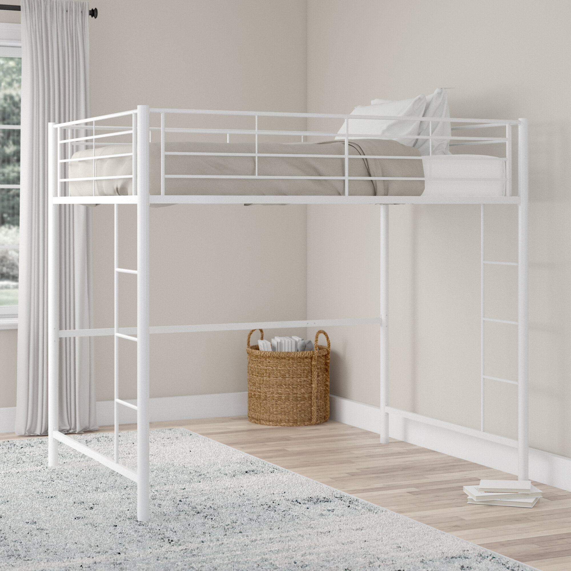 Advantages And Drawbacks Of Strong Wooden Loft Bed With Stairs Viv + Rae Maurice Full Bed u0026 Reviews | Wayfair