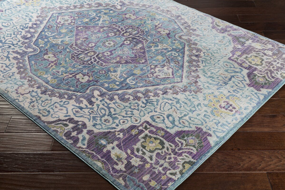 Fields Purple Blue Area Rug Amp Reviews Birch Lane