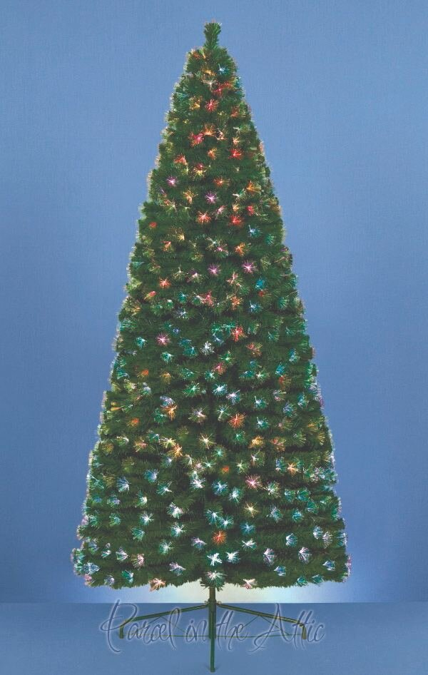 parcel in the attic 4ft artificial christmas tree with 125 fibre optic tips wayfaircouk