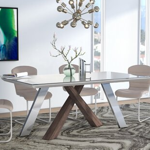 Glass Kitchen Dining Tables Youll Love Wayfair - All glass dining room table