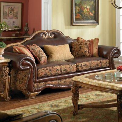 Michael Amini Toscano High Back Leather Sofa | Wayfair