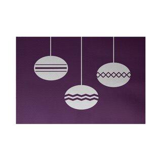Reviews Geo-Bulbs Decorative Holiday Print Purple Indoor/Outdoor Area Rug ByThe Holiday Aisle