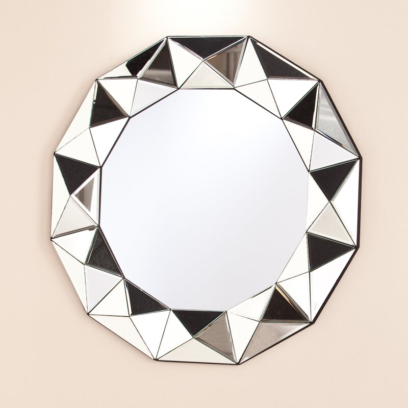 Willa Arlo Interiors Traditional Round Decorative Wall Mirror ...