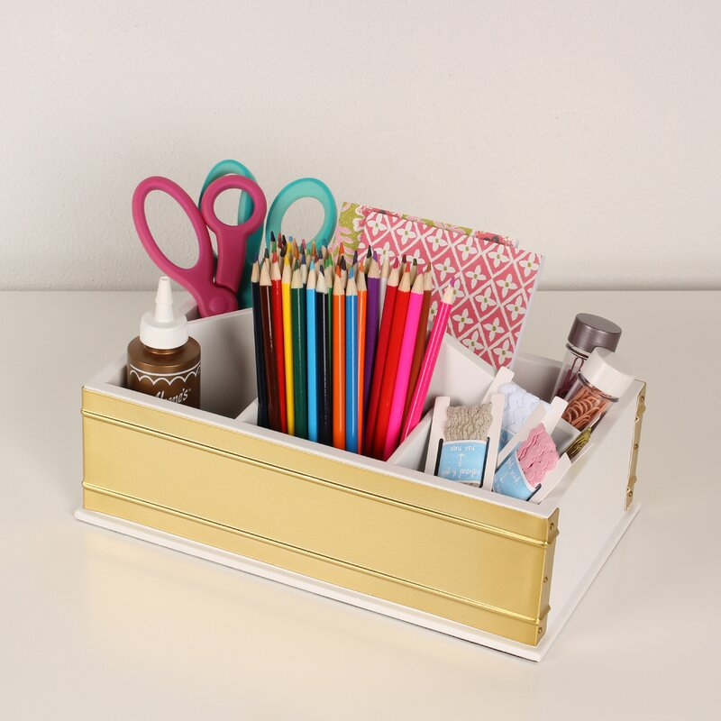 Kate and Laurel Industrious Desktop Office Supply Caddy Organizer ...