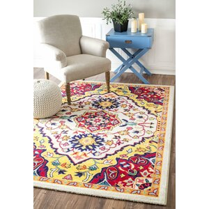 Rana Yellow/Red Area Rug