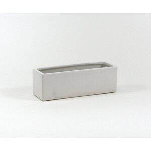 Long Low Rectangular Ceramic Block Table Vase