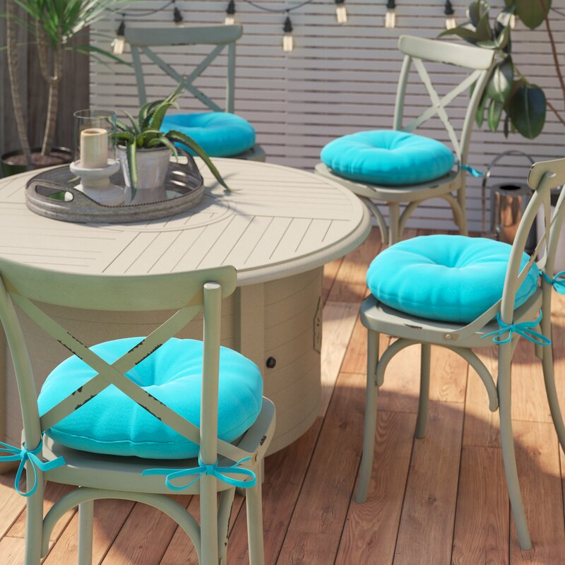 Andover Mills Sarver 18 Round Indoor Outdoor Bistro Chair Cushion