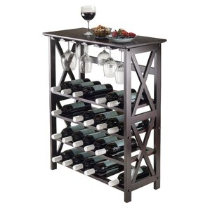 sari 24bottle floor wine rack - Wine Rack Table