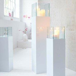 Windlichtsäule Glossy aus Glas