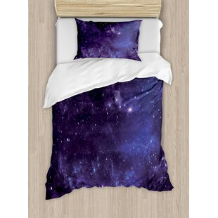 galaxy celestial stars in night sky duvet set - Galaxy Bedding Set
