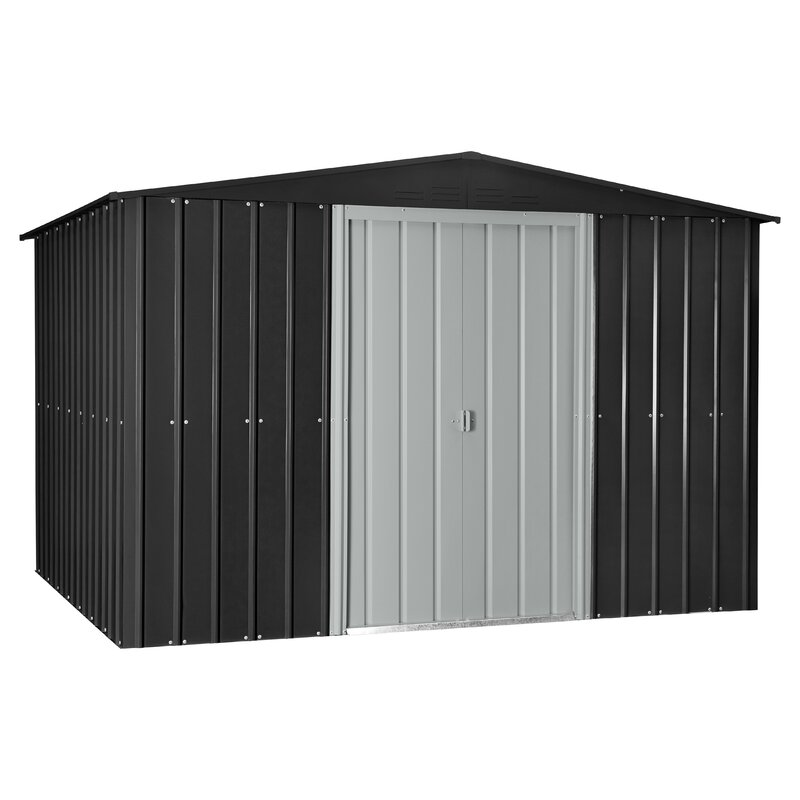 Garden Sheds 7 X 9 globel 9 ft. 8 in. w x 7 ft. 9 in. d metal storage shed & reviews