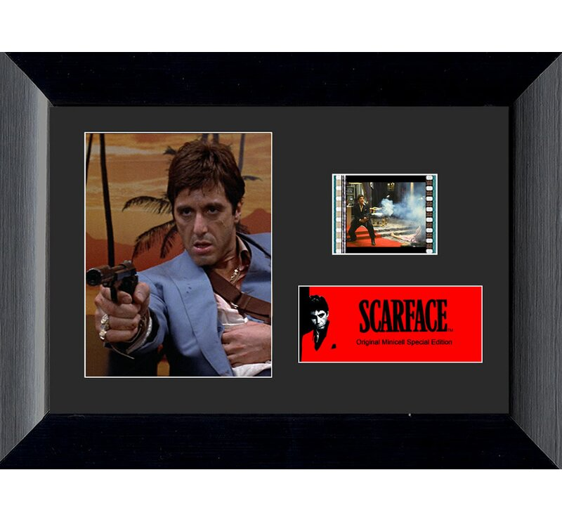 Trend Setters Scarface Mini Filmcell Presentation Framed Vintage