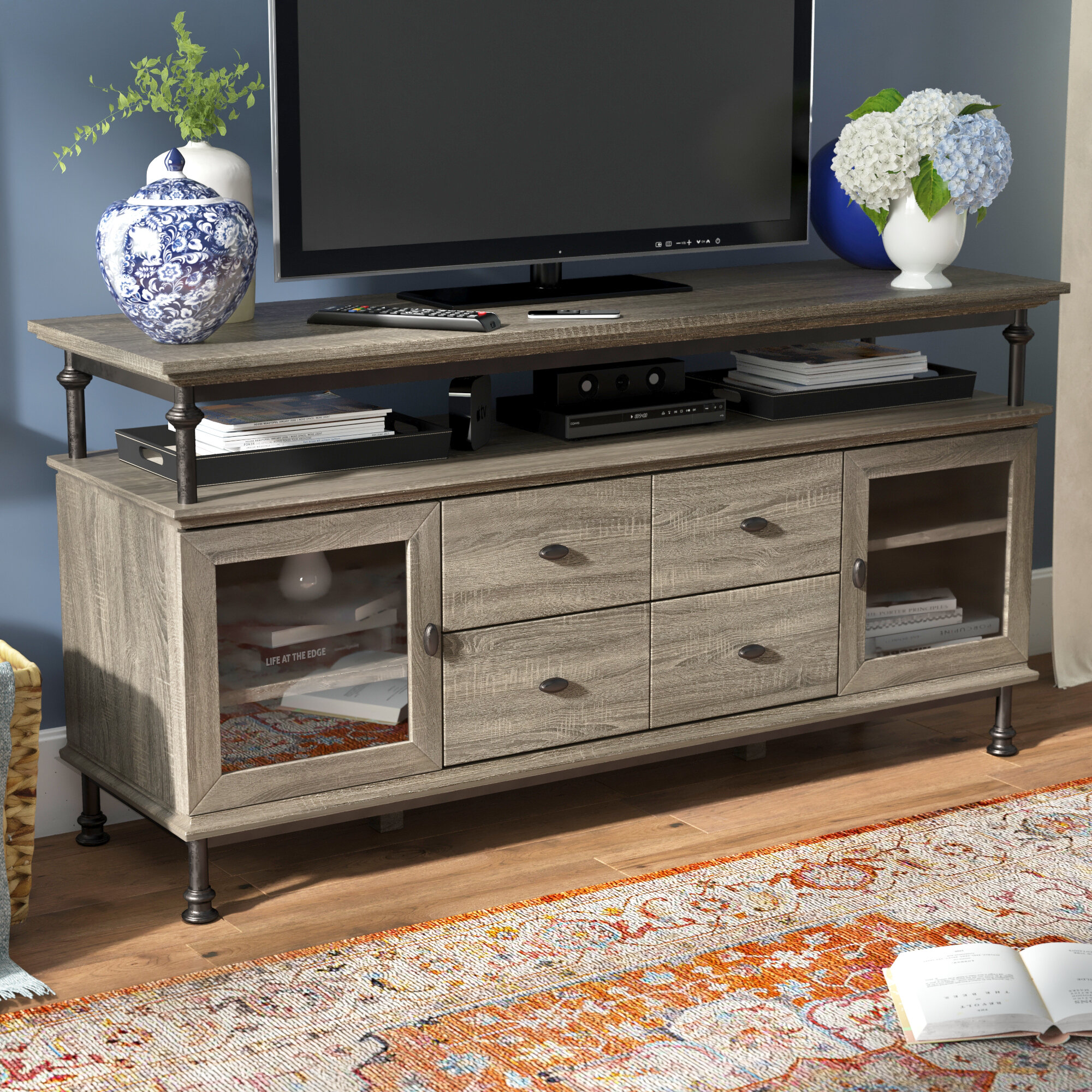 Three Posts Oakside Tv Stand For Tvs Up To 60 Reviews Wayfair