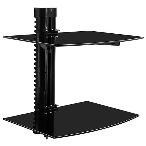 mount it tinted tempered glass floating 2 shelves wall mounted shelf Mount Shelf to Wall
