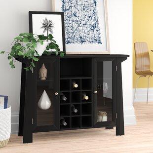 Cendrillon Wood Storage 12 Bottle Floor Wine Cabinet