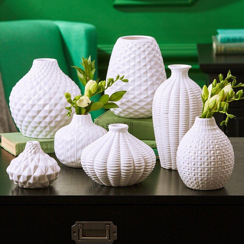 Brayden Studio Pell Artisan Carvings Bud 7 Piece Table Vase Set