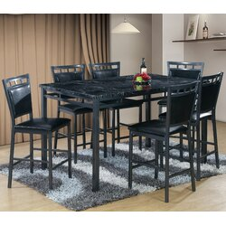 Best Quality Furniture 7 Piece Counter Height Dining Table Set ...