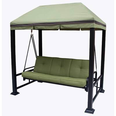 Darby Home Co Trevino 3 Person Porch Swing Metal Frame with Stand ...