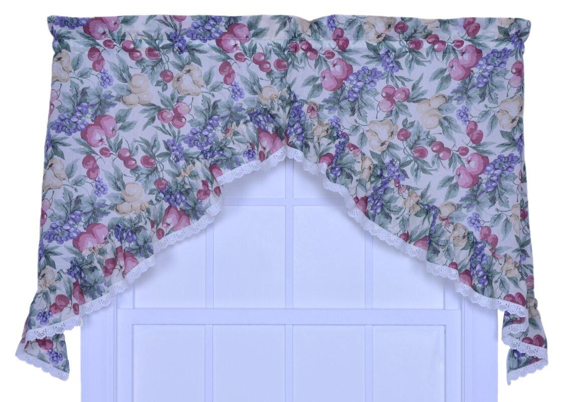 Curtain valances for windows and rods - Kitchen Harvest Fruit Rod Pocket Swag 58 Curtain Valance