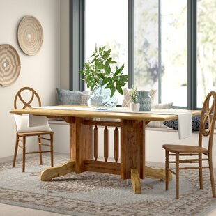 Abella Solid Wood Dining Table Double Pedestal