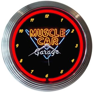 buy neon garage clocks