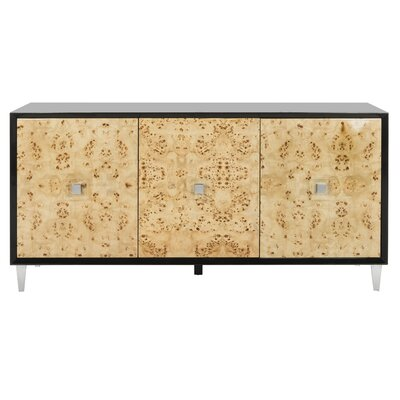 Brayden Studio Darwin Sideboard Color: Black Lacquer / Bulwood