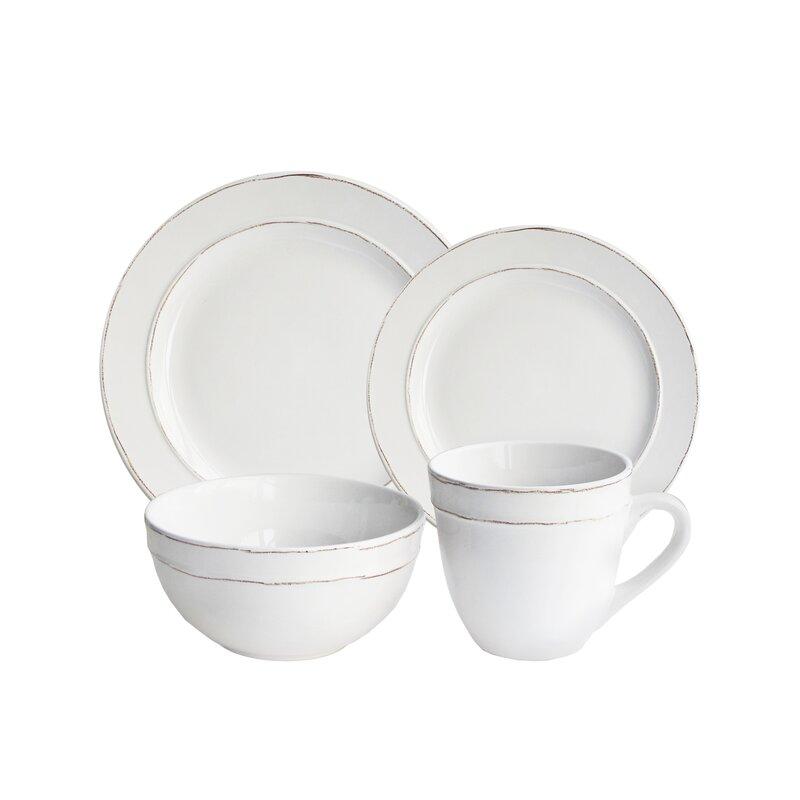 Harwood 16 piece dinnerware set service for 4