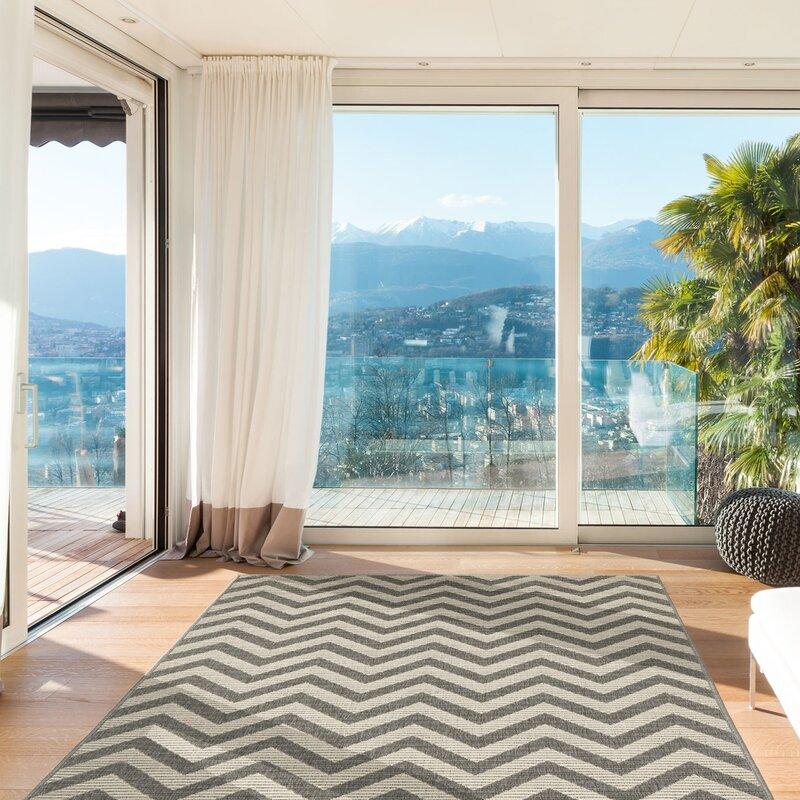 floorita innen und au enteppich zigzag in grau elfenbein bewertungen. Black Bedroom Furniture Sets. Home Design Ideas