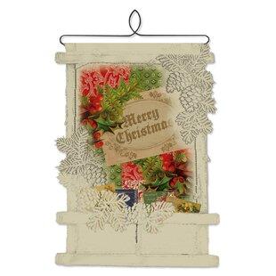 Vintage christmas cards wayfair vintage holly christmas card holder wall decor m4hsunfo