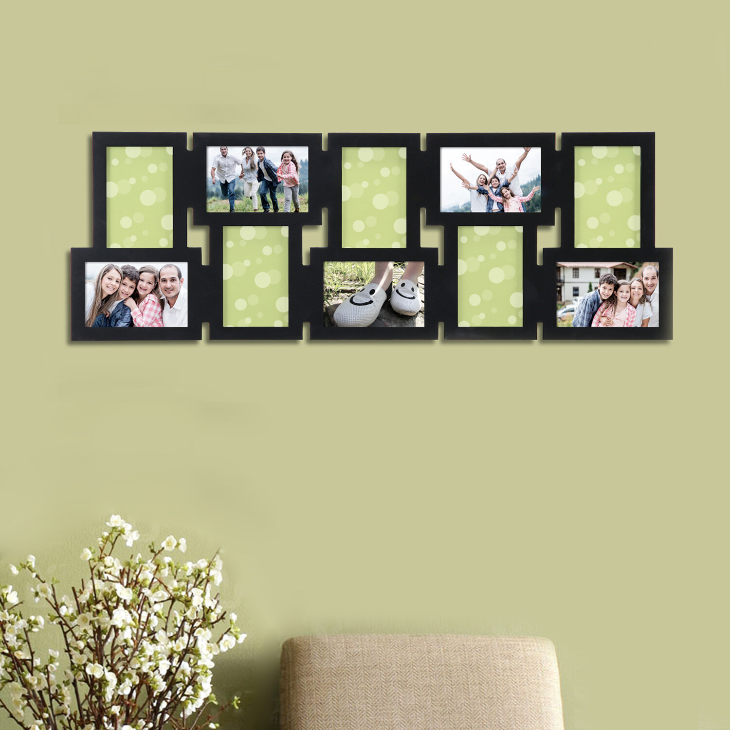 10 Opening Decorative Interlocking Wall Hanging Collage Picture ...