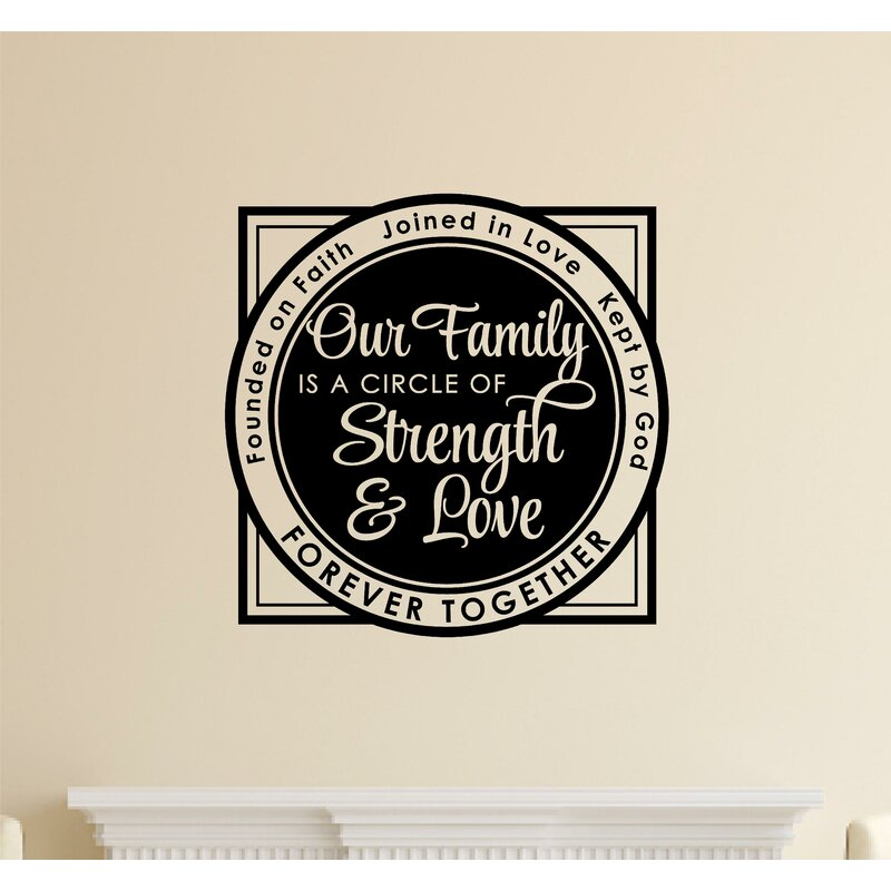 Enchantingly Elegant Our Family Is A Circle Of Strength Love Vinyl