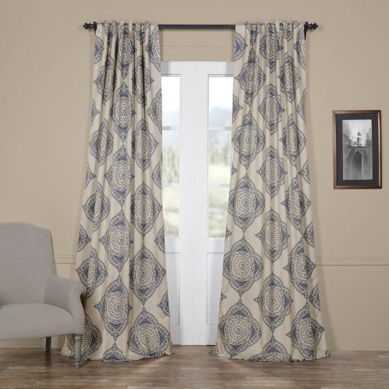 geometric blackout curtains grommet wyndmoor geometric blackout rod pocket single curtain panel trent austin design