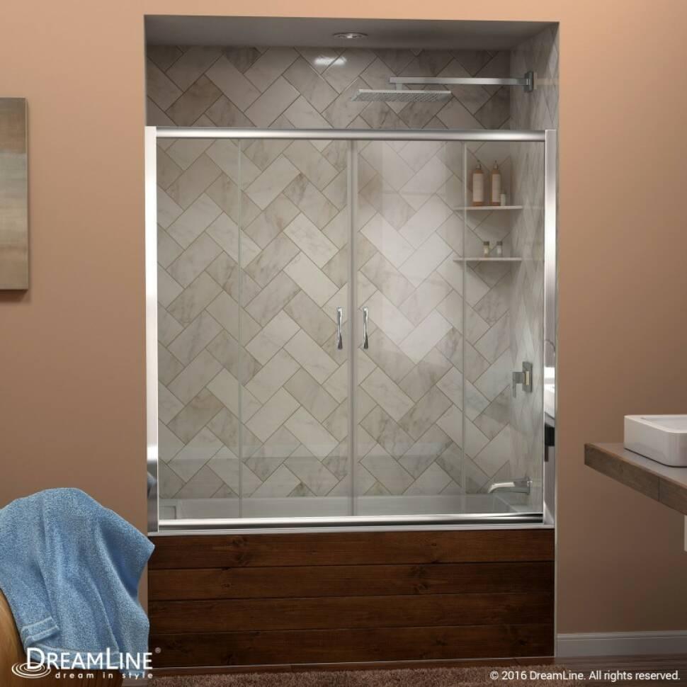 Breathtaking Frameless Sliding Tub Door