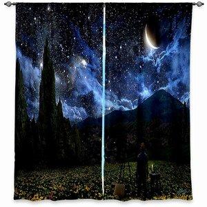 Cannon Alex Ruiz's Starry Night Room Darkening Curtain Panels (Set of 2)