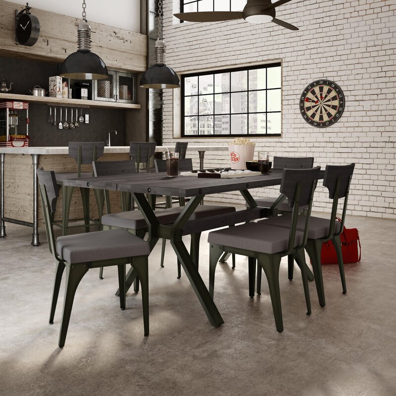 Industrial Dining Room Sets Part - 33: Darcelle 7 Piece Industrial Dining Set