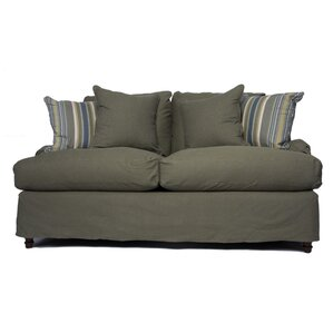 Sunset Trading Seacoast Slipcovered Loveseat