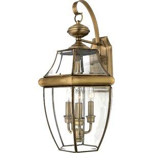 Saddler 3 Light Outdoor Wall Lantern