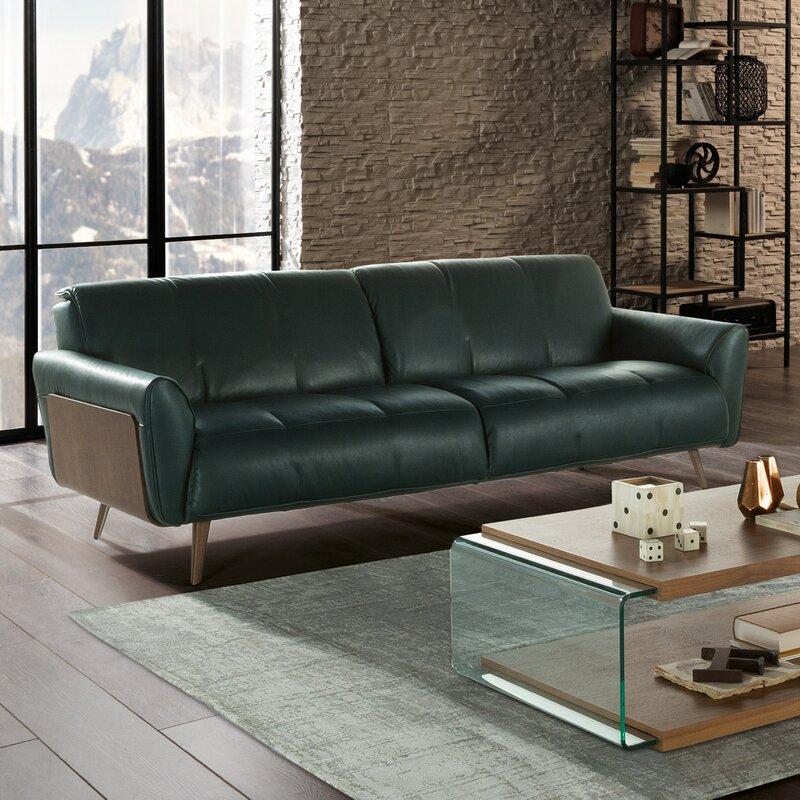 Natuzzi Editions Tobia Leather Sofa & Reviews