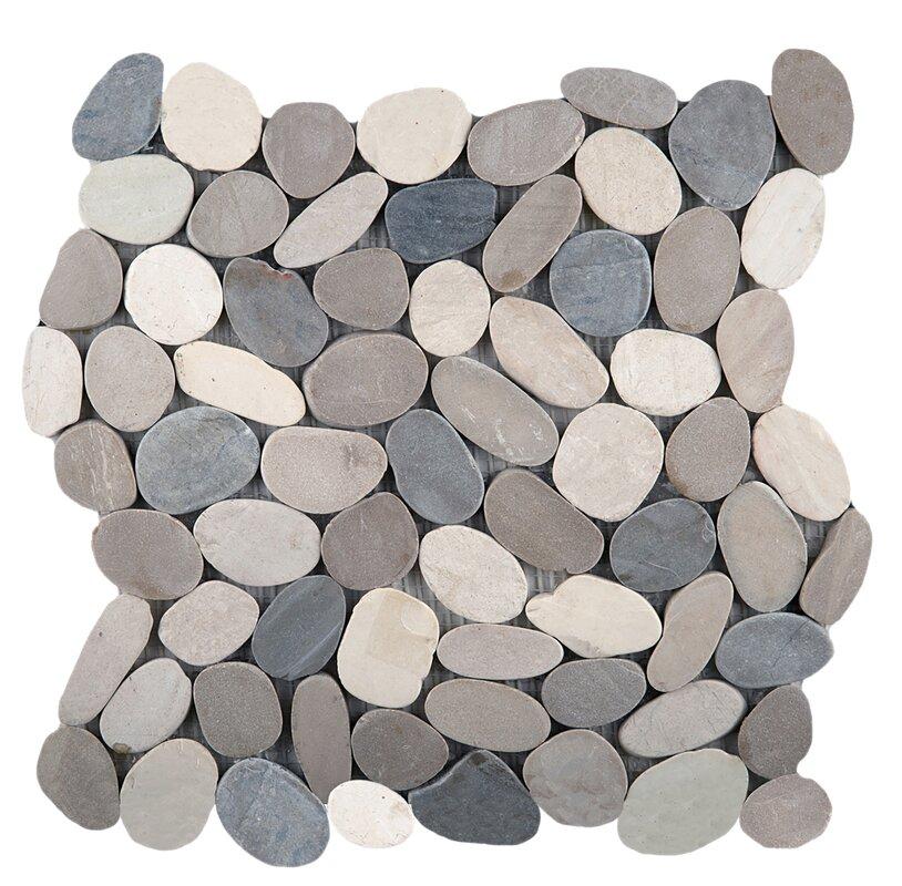 "Flat Venetian Pebbles 12"" x 12"" Mosaic Tile in Medici Blend"