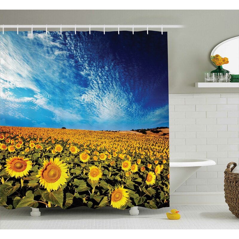 Faye Sunflower Garden Nature Shower Curtain