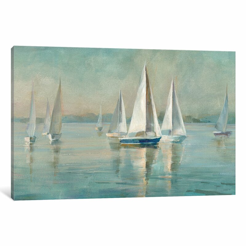 Beachcrest Home \'Sailboats at Sunrise\' Print & Reviews | Wayfair