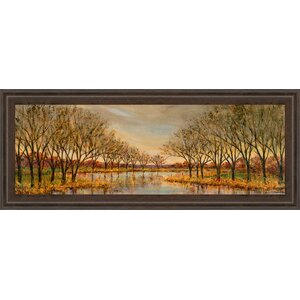 Twilight on the River by Carson Framed Graphic Art