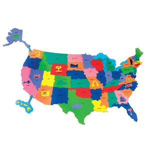 Childrens Wall Maps Youll Love Wayfair - Childrens wall map