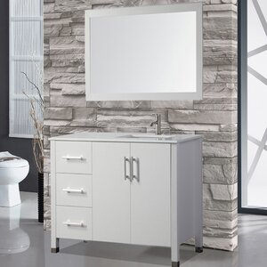 Prahl 40 Single Sink Bathroom Vanity Set with Mirror