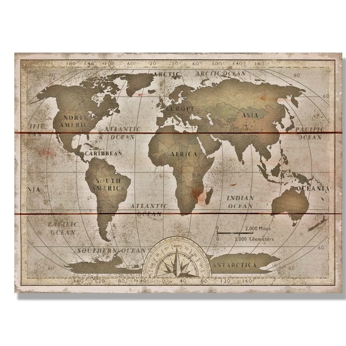 Daydream hq old world map graphic art on wood wayfair old world map graphic art on wood gumiabroncs Choice Image