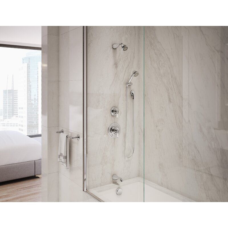 Symmons Carrington Pressure Balance Tub and Shower System with Lever ...